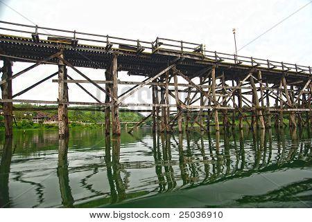 Handmade Wood Bridge Made By Burmese
