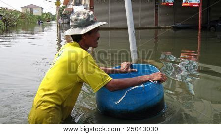 Pushing a Barrel through the Flood Waters