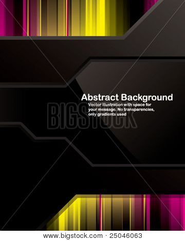 Vector. Clean background design with glossy elements. No transparencies, only gradients used