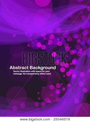 Colorful transparent waves and blurry sparks. Vector illustration in RGB colors.