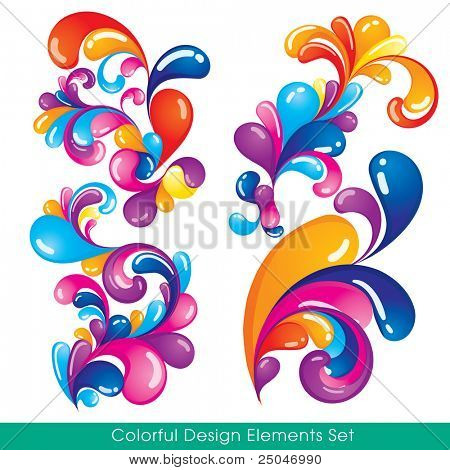Set of colorful elements that will attract attention to your design