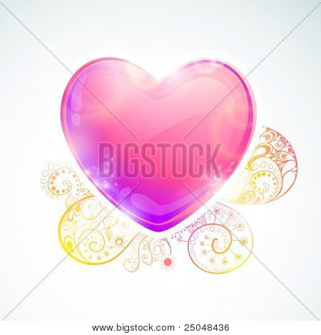 EPS10. Editable trendy heart design with space for your message.