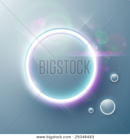 Eps10. Vector. Fresh button design with shining effects to attract attention. Fully editable.