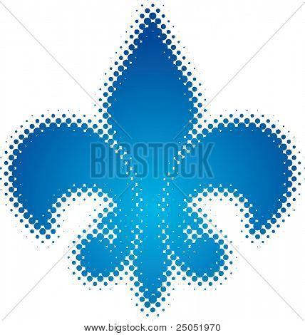 Fleur de Lys (dots design series)