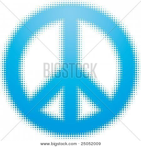 peace symbol (dots design series)