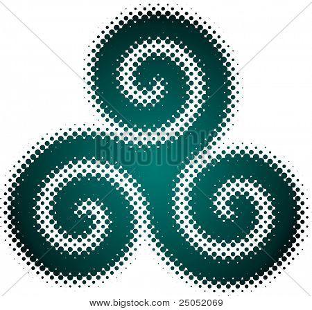triskelion (dotted design series)