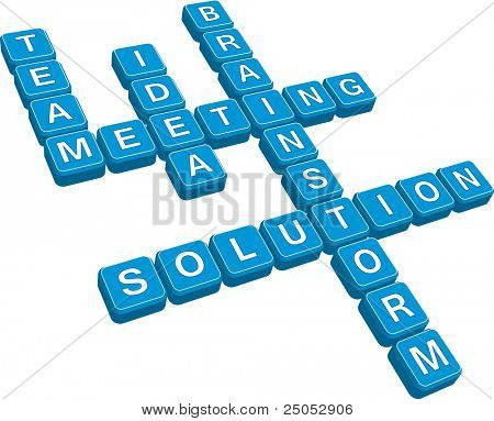 business crossword (vector format)