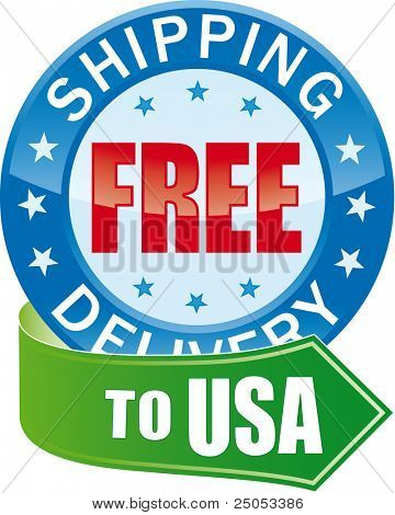 Free Shipping Glossy Web Icon