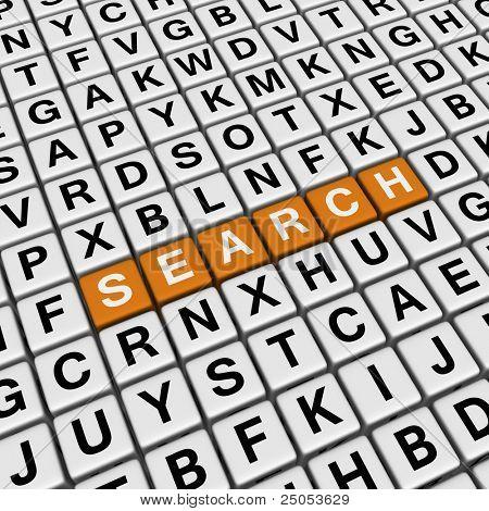 search (3D crossword orange series)
