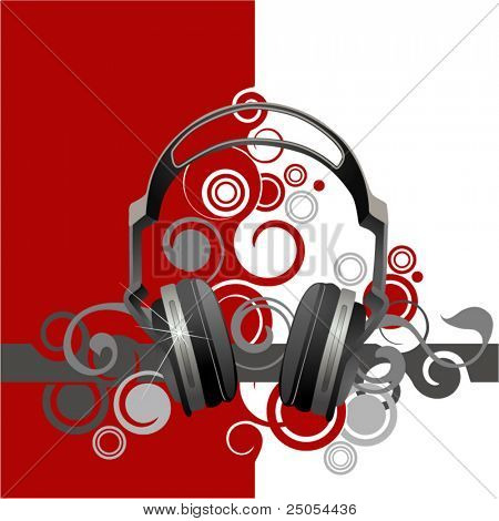 Musical abstraction with headphones