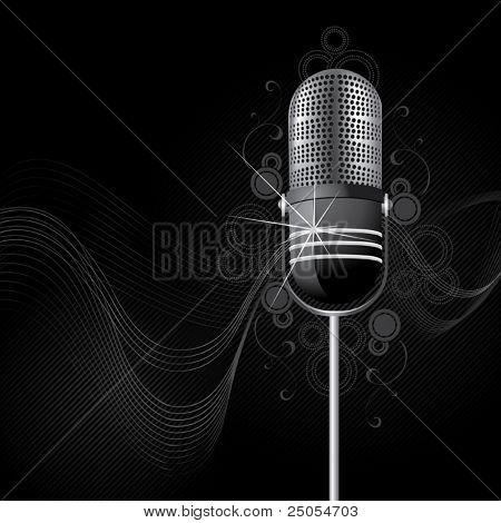 Sparkling retro a microphone