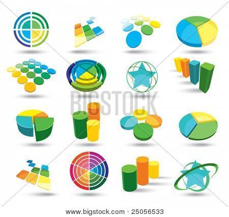 Colour web icons