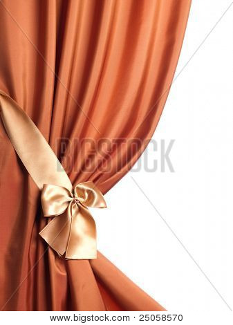 Silk Curtain over white
