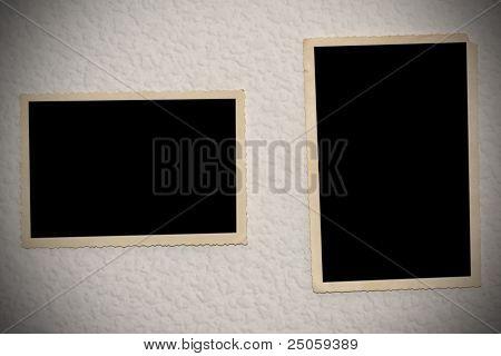 Photoframe on wall.