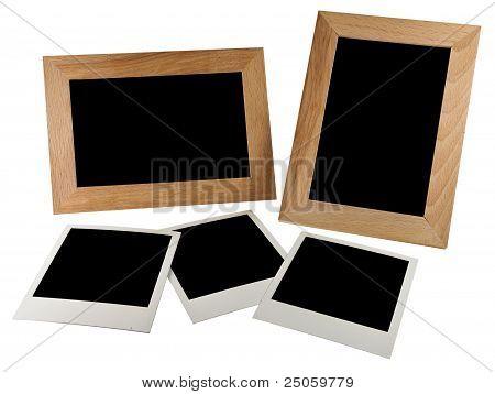 Empty photo in photoframe