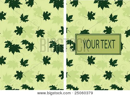Seamless floral pattern with the space for text