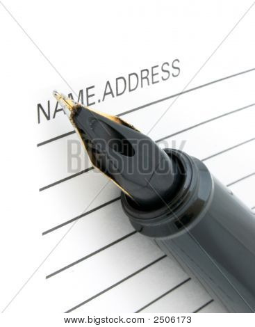 Pen Tip And Address Book