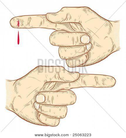 Hände gezeichnet. Vektor-Illustration.