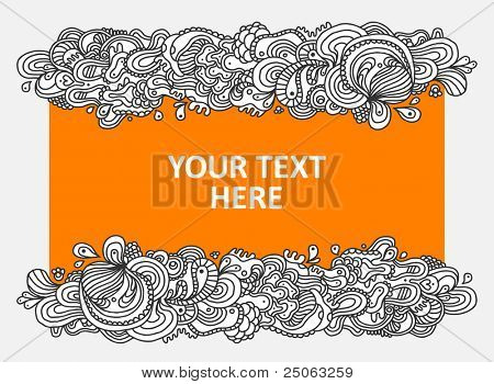 Hand-drawn abstract background. Vector illustration.