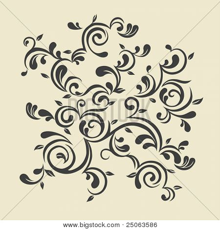 trendige floral Ornament. Vektor-Illustration.