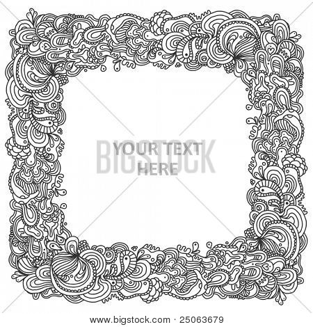 Hand-drawn vintage background. Vector illustration.