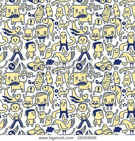 lustige seamless Pattern. Vektor-Illustration.