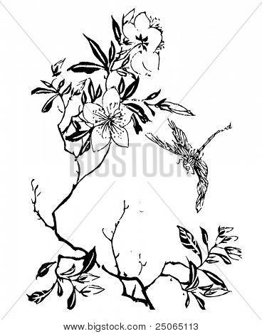 handdrawn flower
