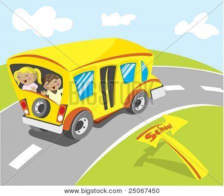 Yellow school bus 'Illustration' check my portfolio for Vector version