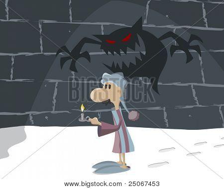 Man in the dark 'Illustration' check my portfolio for Vector version