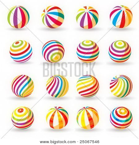 set of colorful rubber balloons