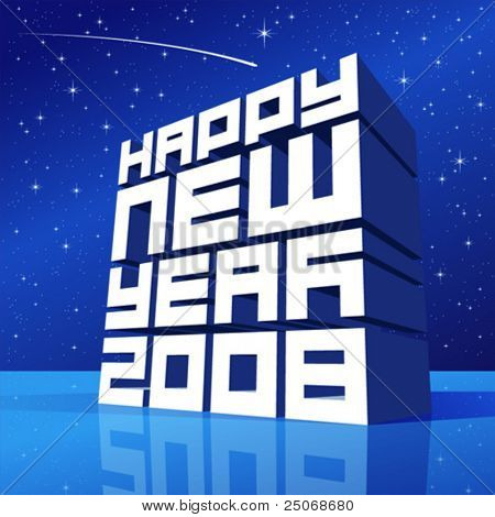 Happy New Year vector, editable