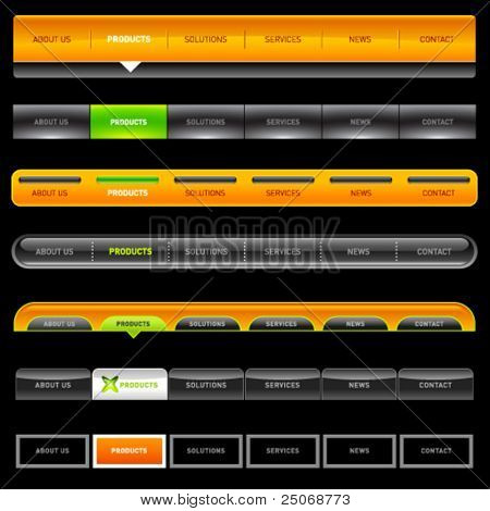 Clean vector, easy to edit web navigation templates 11