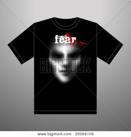 Scary Tee-shirt. Vector.
