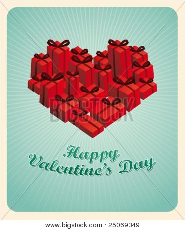 Valentine's Day card. Editable. No mesh