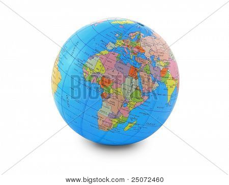 Globe, isolated on the white background.