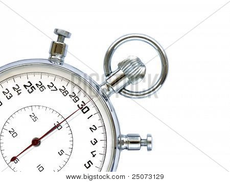 Stopwatch  isolated on the white background.