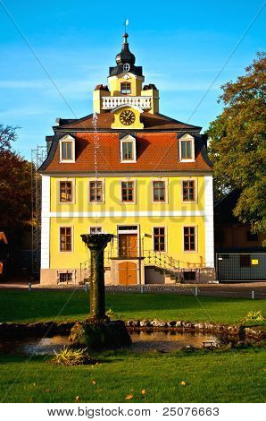 Pavillon on the ground of the castle Belvedere in Weimar in Germany