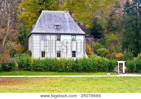 The garden house of Johann Wolfgang von Goethe in Weimar in Germany