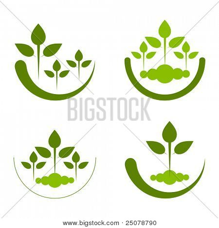 Logo conceptual de reforestación.
