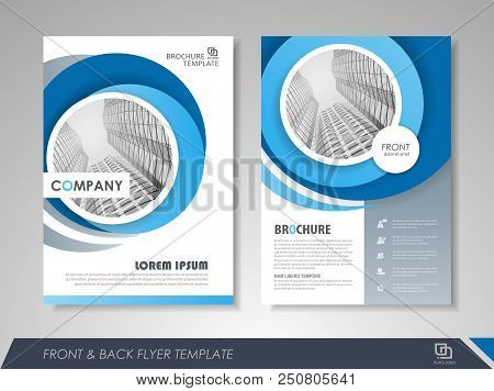 poster of Modern Blue Brochure Design, Brochure Template, Brochures, Brochure Layout, Brochure Cover, Brochure