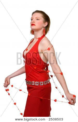 Woman With Lasso Made Of Hearts
