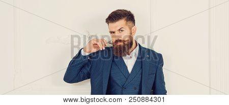 Handsome Stylish Bearded Man Mens