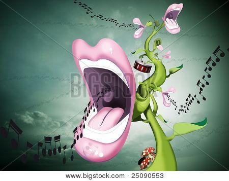 singing flower lips