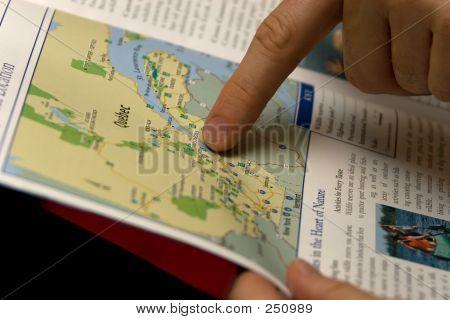 Hiking Finger On Map