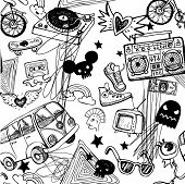 image of tween  - Seamless hipsters background - JPG