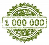 1 000 000 Stamp Seal Watermark With Rubber Print Style. Green Vector Rubber Print Of 1 000 000 Tag W poster