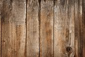 Brown Wood Background. Old Boards. Shabby Wooden Background. poster