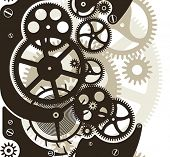 stock photo of time machine  - Cog wheels work - JPG