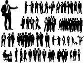 stock photo of silhouette  - Business people - JPG
