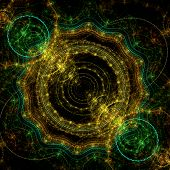 Steampunk Fractal Background   - Universe Clockwork  Fractal Art poster